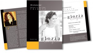 The invitation to the Latin Recording Academy's tribute to the legendary Gloria Estefan