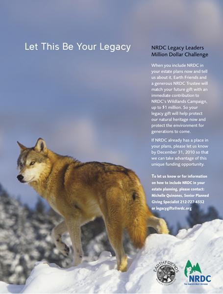 NRDC wolf ad