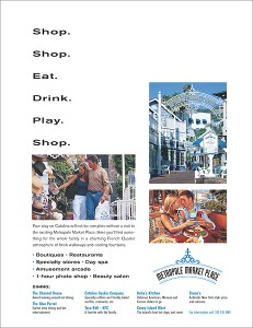 Ad for Hotel Metropole Market Place, Catalina Island