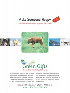 NRDC On Earth Green Gifts ad